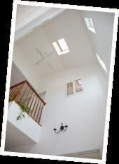 K邸写真:吹き抜けの天井