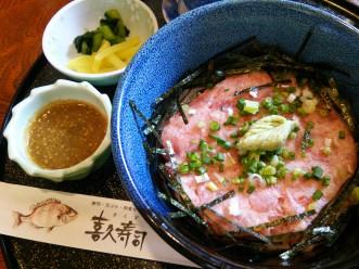 三沢市街パシャ写真『喜久寿司さんのねぎとろ丼!】