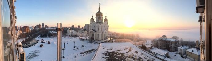 ロシア・ハバロフスク市の朝