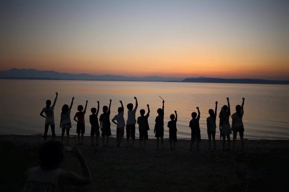 三沢市街パシャ写真『小川原湖の夕焼け】