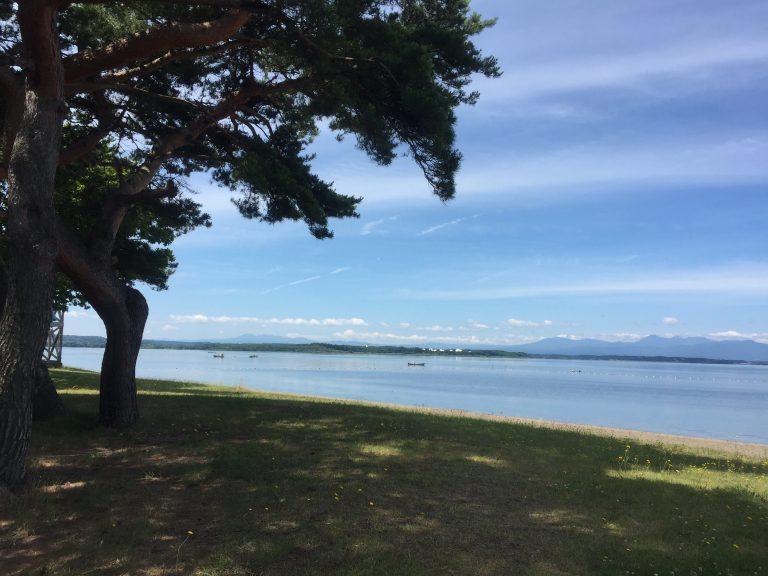 三沢市街パシャ写真『湖水開きが待ち遠しい】