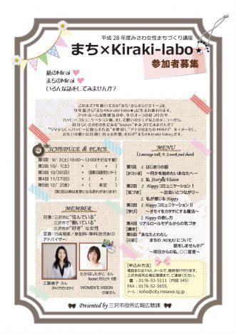 『まち×kiraki-labo】