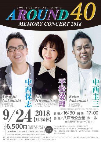 『アラウンド40メモリーコンサート2018 ~中西保志・平松愛理・中西圭三~】