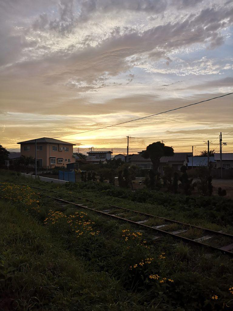 三沢市街パシャ写真『三沢の夕陽】